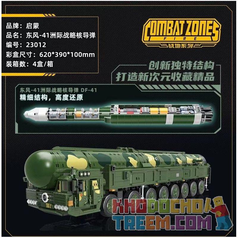 Enlighten 23012 Qman 23012 KEEPPLEY 23012 Xếp hình kiểu Lego TACTICAL ESPIONAGE ACTION Combat Zones DF-41 Ballistic Missile Battlefield Series Dongfeng-41 Intercontinental Strategy Nuclear Missile Tên