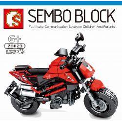 SEMBO 701123 Xếp hình kiểu Lego MOTO Benelli TnT135 Enjoy The Ride Benoli TNT135 Benoli TNT135. 235 khối