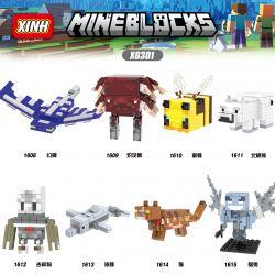 XINH 1608 1609 1610 1611 1612 1613 1614 1615 X0301 0301 Xếp hình kiểu Lego COLLECTABLE MINIFIGURES Hundreds Of People 8 My World Thế Giới Của Tôi gồm 8 hộp nhỏ