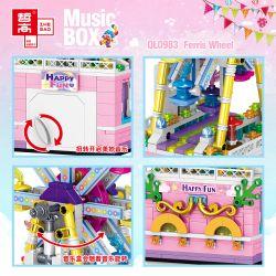 ZHEGAO QL0983 0983 Xếp hình kiểu Lego SEASONAL Music Box Ferris Wheel Rotating Music Box Đu Quay 529 khối