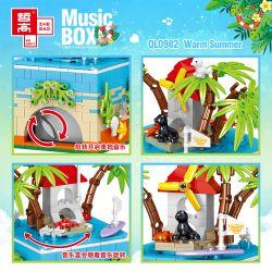 ZHEGAO QL0982 0982 Xếp hình kiểu Lego SEASONAL Music Box Warm Summer Rotating Music Box Mùa Hè ấm áp 425 khối