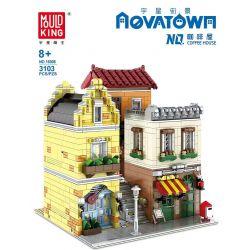 MOULDKING MOULD KING 16008 Xếp hình kiểu Lego MODULAR BUILDINGS Yushang Street View Coffee House Quán Cà Phê 3103 khối