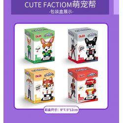 GUDI 53001 53002 53003 53004 Xếp hình kiểu Lego Cute Footion Cute Pet 4 Single Dog, Rock Dog, Overtime Dog, Hip Hop Dog 4 Con Chó độc Thân, Chó đá, Chó Làm Thêm Giờ, Chó Hip Hop gồm 4 hộp nhỏ 460 khối