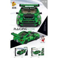 PanlosBrick 666027 Panlos Brick 666027 Xếp hình kiểu Lego SPEED CHAMPIONS Porsche 911 GT3 RS 358 khối