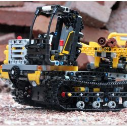 NOT Lego TECHNIC 42094 Tracked Loader Crawler Handling Machine , JISI 13386 LARI 11300 MOULDKING 13034 13035 RUIZHI BEE 841 Xếp hình Xe Nâng Bánh Xích lắp được 2 mẫu 827 khối