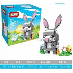 XINH 8916 Xếp hình kiểu Lego BRICKHEADZ Easter Bunny Fangtai Easter Rabbit Thỏ Phục Sinh 126 khối