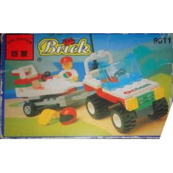 Enlighten 9611 Qman 9611 Xếp hình kiểu Lego TOWN Wave Rebel Vehicle Speedboat Wave Rebel 79 khối