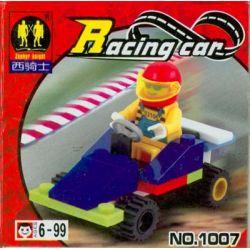 ZEPHYR KNIGHT 1007 Xếp hình kiểu Lego TOWN Formula 1 Racing Car Road Burner Racing First Class Equation Racing, Black Racing Công Thức 1 Racing Car Road Burner gồm 2 hộp nhỏ 25 khối