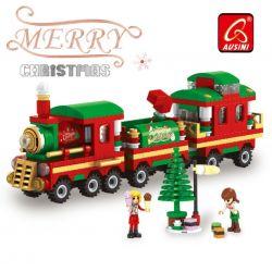 AUSINI 25524 Xếp hình kiểu Lego SEASONAL Christmas Christmas Trains Chuyến Tàu Giáng Sinh 233 khối