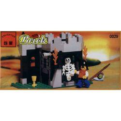Enlighten 0029 Qman 0029 Xếp hình kiểu Lego CASTLE Skeleton Surprise Castle Royal Knight Guardian Skeleton Surprise 74 khối