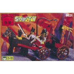 Enlighten 9824 Qman 9824 Xếp hình kiểu Lego CASTLE Bat Lord's Catapult Castle Fear Knight Bat King Stone Military Cars Bat Lord Catapult 55 khối