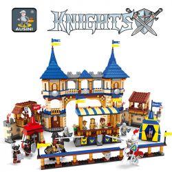 AUSINI 27908 Xếp hình kiểu Lego CASTLE Kingdoms Joust Castle Kingdom Samurai Fighting Field Kingdoms Joust 1575 khối