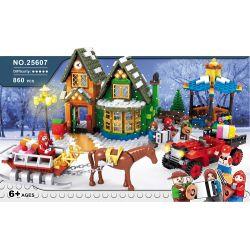 AUSINI 25607 Xếp hình kiểu Lego CREATOR EXPERT Winter Village Post Office Winter Village Winter Town Post Office Bưu điện Làng Mùa Đông 822 khối