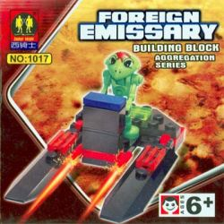 ZEPHYR KNIGHT 1017 Xếp hình kiểu Lego SPACE Mars Life Double Hover Double Hover. gồm 2 hộp nhỏ 21 khối