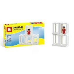 SHENG YUAN SY SY306 Xếp hình kiểu Lego MISCELLANEOUS Minifigure Presentation Boxes Human Selection Box Minifigure Hộp Trình Bày 89 khối
