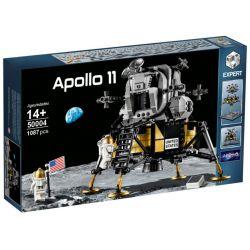 BLANK 50004 ZIMO 60003 Xếp hình kiểu Lego CREATOR EXPERT NASA Apollo 11 Lunar Lander Tàu đổ Bộ Mặt Trăng Apollo 11 Của NASA 1087 khối