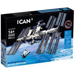 BLANK 50005 88004 ZIMO 60004 Xếp hình kiểu Lego IDEAS International Space Station Trạm Không Gian Quốc Tế 864 khối