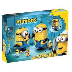 BLANK 60009 81779 CLB 21001 Xếp hình kiểu Lego MINIONS THE RISE OF GRU Brick-built Minions And Their Lair Small Yellow People Mengmeng Small Yellow People And Their Camp Minions Xây Bằng Gạch Và Hang