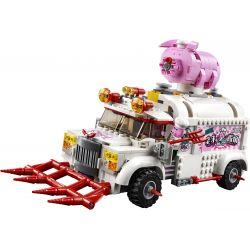 LARI 11542 Xếp hình kiểu Lego MONKIE KID Pigsy's Food Truck Wukong Xia Zhu Haugu Mobile Spike Car Xe Tải Thức ăn Của Pigsy 832 khối