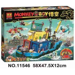 LARI 11546 Xếp hình kiểu Lego MONKIE KID Monkie Kid's Team Secret HQ Goku Oiso All-purpose Marine Base Monkie Kid's Team Secret HQ 1959 khối