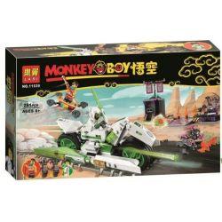 LARI 11539 Xếp hình kiểu Lego MONKIE KID White Dragon Horse Bike Wukong Xia Bai Long Ma Xe đạp Ngựa Bạch Long 259 khối