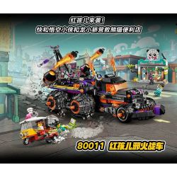 HJLEPIN 88011 LARI 11544 Xếp hình kiểu Lego MONKIE KID Red Son's Inferno Truck Wukong Xia Hongried Children's Evil Chariot Xe Tải Inferno Của Red Son 1111 khối