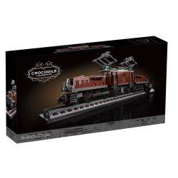 BLANK 40010 NO.1 1 Xếp hình kiểu Lego CREATOR EXPERT Crocodile Locomotive Crocodile Train Đầu Máy Cá Sấu 1271 khối