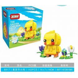 XINH 8917 Xếp hình kiểu Lego BRICKHEADZ Fangtai Easter Chick Gà Phục Sinh 120 khối