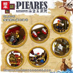 ZHEGAO QL1805 1805 Xếp hình kiểu Lego PIRATES OF THE CARIBBEAN Pieares Kingdom Pirate Kingdom Pirate Ship's Mobi Tàu Cướp Biển [Không Xác định] 1436 khối