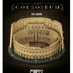 BLANK 86000 Xếp hình kiểu Lego CREATOR EXPERT Colosseum Roman Fighting Beast Colosseum. 9036 khối