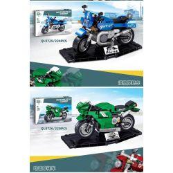 ZHEGAO QL0725 0725 QL0726 0726 QL0727 0727 QL0728 0728 Xếp hình kiểu Lego SPEED CHAMPIONS Motorcycle 4 Wind Speed Motorcycle, Lingli Motorcycle, Harley Motorcycle, Small Philosophilic Car Mô Tô 4 Loại