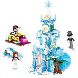 ZHEGAO QL1141 1141 Xếp hình kiểu Lego DISNEY PRINCESS Windsor Castle Shandrang Astronomical Bell Tower Tháp đồng Hồ Thiên Văn Chadron 532 khối