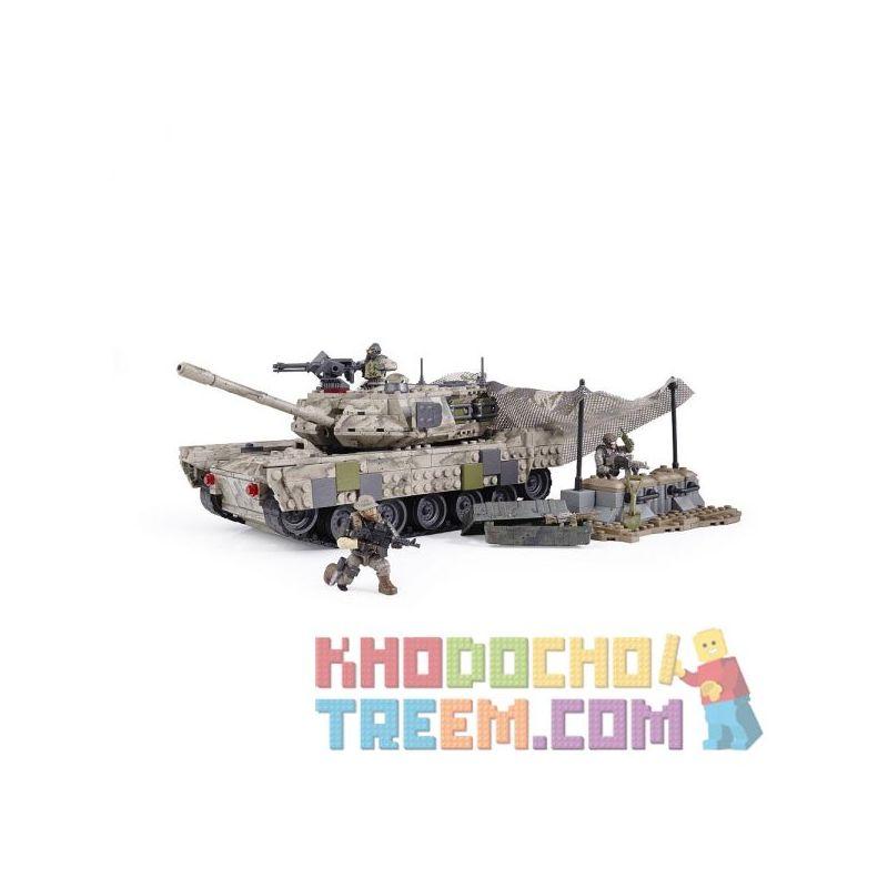 MEGA BLOKS 6822 Xếp hình kiểu Lego Call Of Duty Heavy Armor Outpost Tiền đồn Bọc Thép Hạng Nặng 726 khối