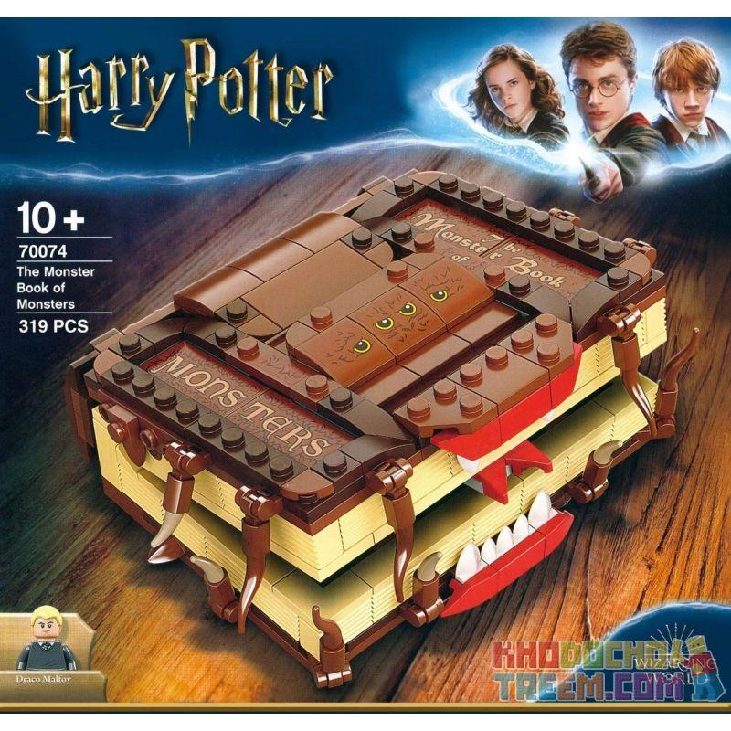 BLANK 1008612 70074 Xếp hình kiểu Lego HARRY POTTER Monster Book Of Monsters Harry Potter Monsters Of Monsters Sách Quái Vật Của Quái Vật 320 khối