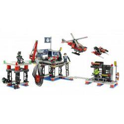 KRE-O 38974 Xếp hình kiểu Lego MILITARY ARMY The Battleship Battle Base Căn Cứ Chiến đấu 355 khối