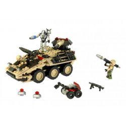 KRE-O 38976 Xếp hình kiểu Lego MILITARY ARMY Mine Stryker The Battleship Mine Robot Robot Rà Phá Bom Mìn 206 khối