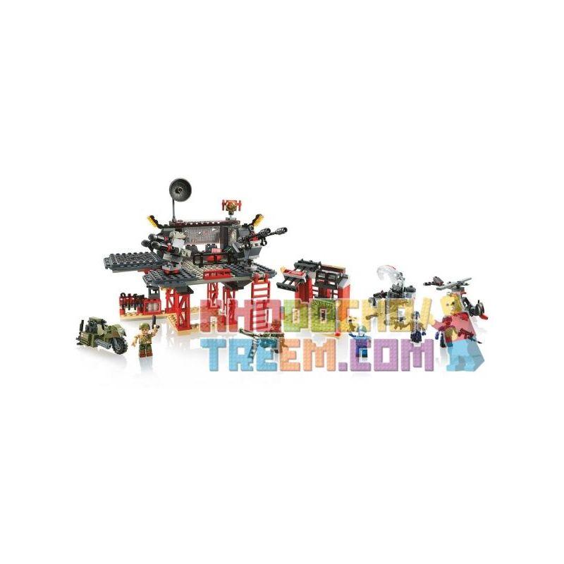 KRE-O A3365 3365 Xếp hình kiểu Lego Battle Platform Attack Special Forces Combat Platform Attack Cuộc Tấn Công Nền Tảng Chiến đấu 368 khối
