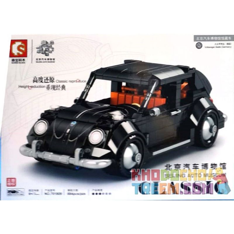 SEMBO 701809 Xếp hình kiểu Lego CREATOR Beijing Auto Museum Volkswagen Beetle Bọ Cánh Cứng Của Volkswagen. 684 khối