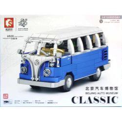SEMBO 701810 Xếp hình kiểu Lego CREATOR Beijing Auto Museum Volkswagen T1 Volkswagen T1. 707 khối