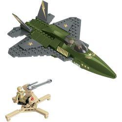 MEGA BLOKS 94410 Xếp hình kiểu Lego MILITARY ARMY Military Jet Fighter Máy Bay Chiến đấu Phản Lực