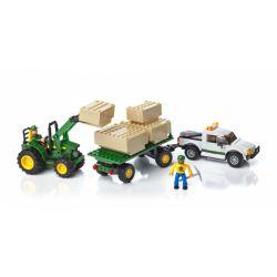 MEGA BLOKS 80841 80848 Xếp hình kiểu Lego CITY John Deere Bale Transport Unit John Dirgan Grass Transport Unit Đơn Vị Vận Chuyển John Deere Hay Bale gồm 2 hộp nhỏ 384 khối