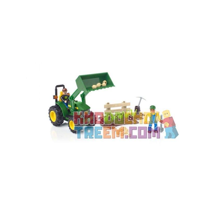 MEGA BLOKS 80840 80847 Xếp hình kiểu Lego CITY John Deere Farm Tractor John Dell Farm Tractor gồm 2 hộp nhỏ 117 khối