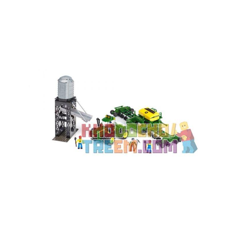 MEGA BLOKS 80842 80849 Xếp hình kiểu Lego CITY John Deere Seeding Crew John Deere Sizter John Deere Sizter. gồm 2 hộp nhỏ 828 khối