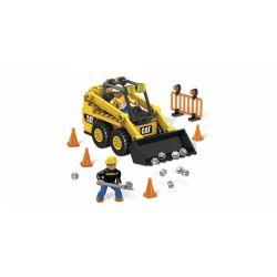 MEGA BLOKS 97801 97830 Xếp hình kiểu Lego CITY Cat Skid-Steer Loader Cat Slip Loader Bộ Tải Chỉ đạo Trượt CAT gồm 2 hộp nhỏ 131 khối