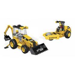 MEGA BLOKS 97805 97833 Xếp hình kiểu Lego CITY Cat Roadbuilding Unit Cat Repair Road Unit Đơn Vị Thi Công đường CAT gồm 2 hộp nhỏ 332 khối
