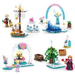 SHENG YUAN SY SY1533A 1533A SY1533B 1533B SY1533C 1533C SY1533D 1533D Xếp hình kiểu Lego DISNEY PRINCESS Ice And Snow Princess 4 4 Mô Hình gồm 4 hộp nhỏ 403 khối
