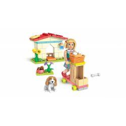 MEGA BLOKS FML65 Xếp hình kiểu Lego FRIENDS Kit's Scooter Kit Scooter Xe Tay Ga Của Kit 90 khối