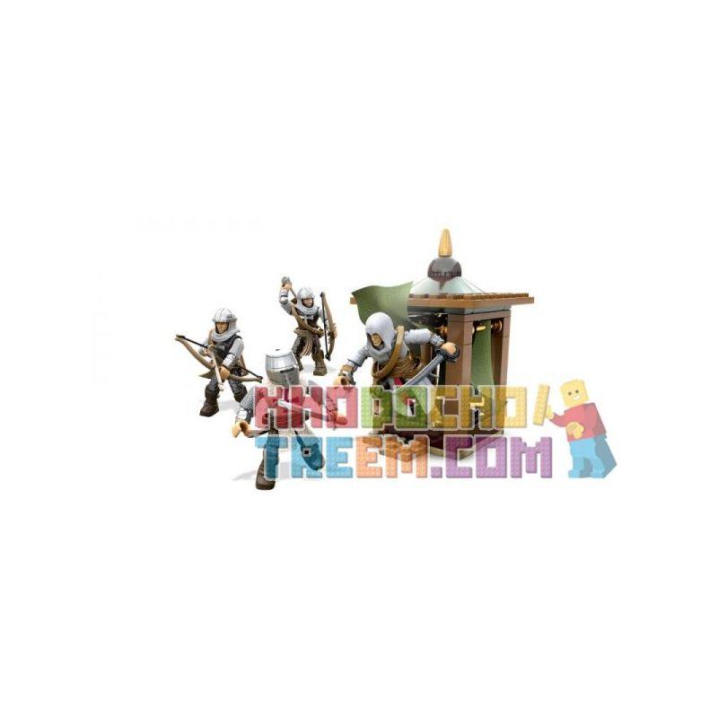 MEGA BLOKS DLC08 Xếp hình kiểu Lego Templar Crusaders Battalion Pack Assassin's Creed Temple Samurai Crusader Combat Gói Chiến đấu Templar Warrior Crusader 57 khối
