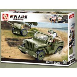 SLUBAN M38-B0853 B0853 0853 M38B0853 38-B0853 Xếp hình kiểu Lego MILITARY ARMY World War II Normandy Landing Willis Jeep Willis Jeep. 143 khối