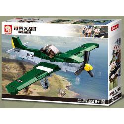 SLUBAN M38-B0857 B0857 0857 M38B0857 38-B0857 Xếp hình kiểu Lego MILITARY ARMY World War II Normandy Landing P51D Wild Horse Fighter Máy Bay Chiến đấu Mustang P51D 323 khối